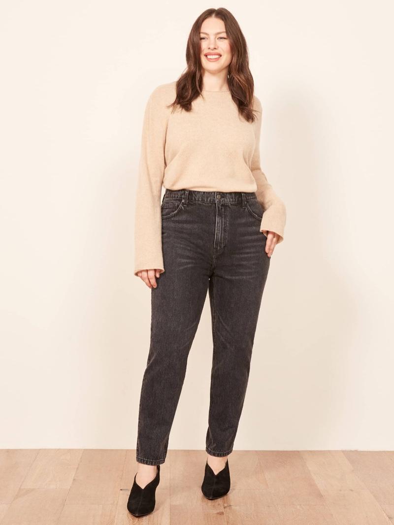 Reformation Plus Size Julia Crop High Cigarette Jean in Pacific $128
