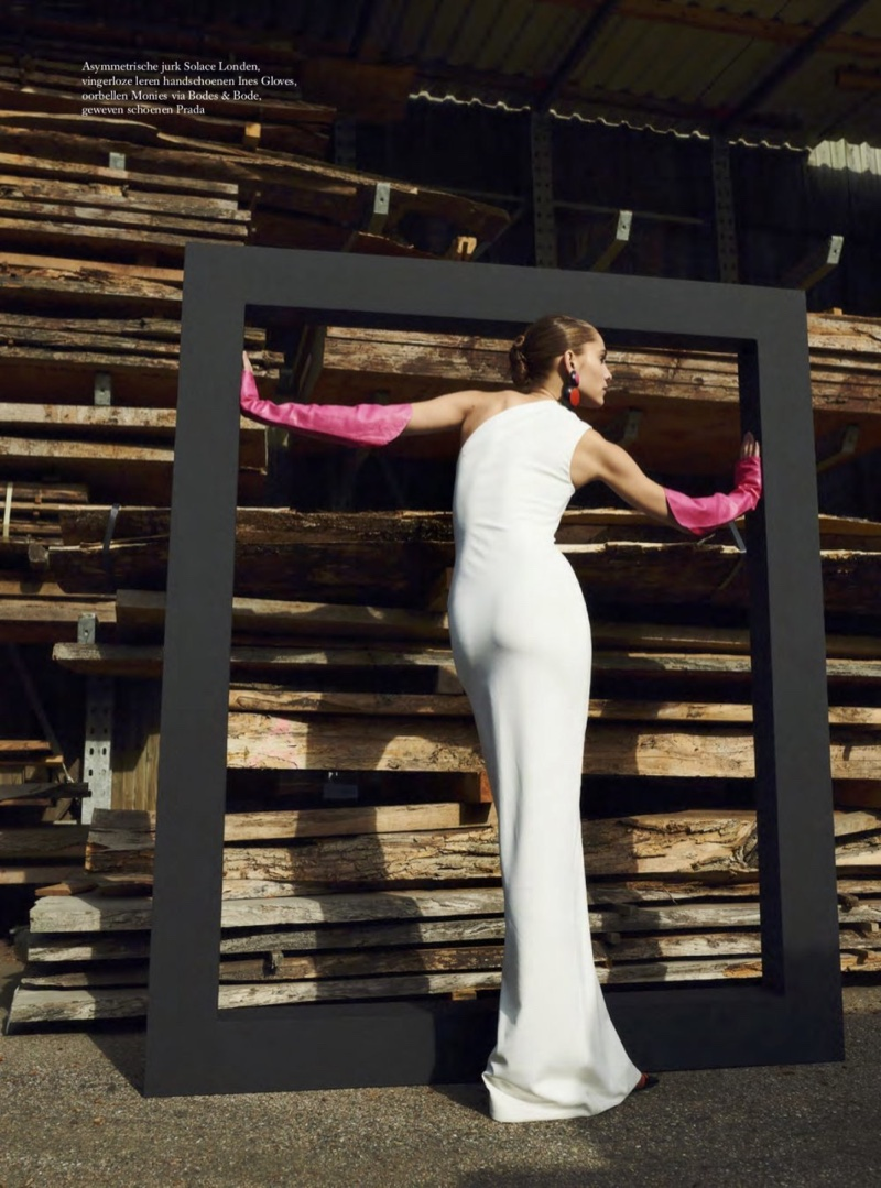 Romy Schönberger is A Work of Art for Harper's Bazaar Netherlands
