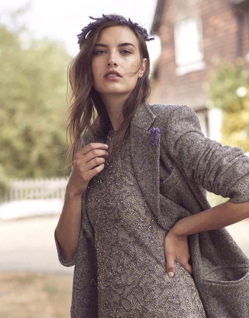 Ronja Furrer Poses Outdoors in Ralph Lauren for Harper's Bazaar UK