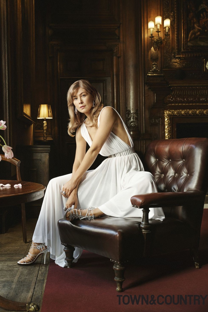 Rosamund Pike Graces the Pages of Town & Country Magazine