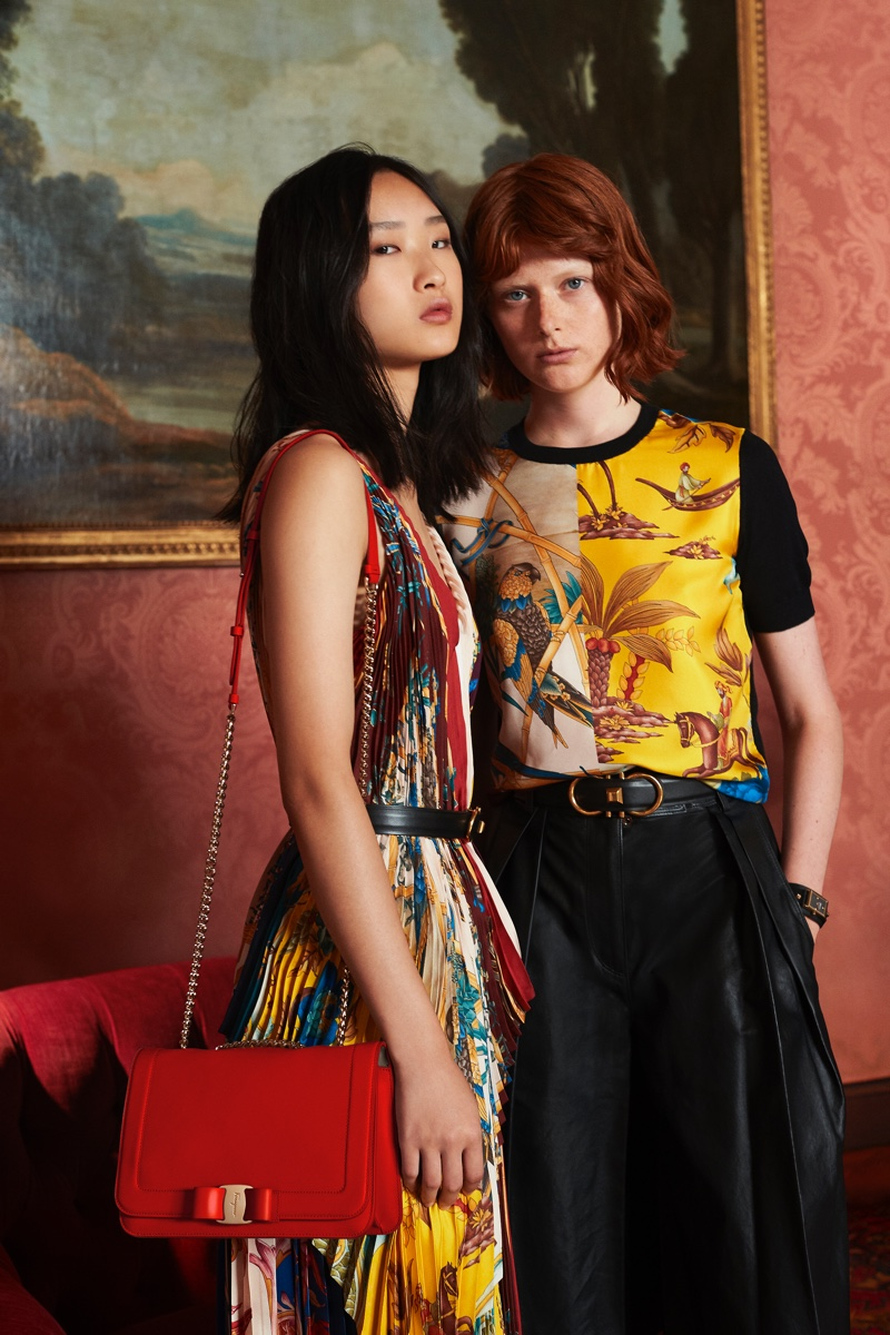 Chuyan He and Fabienne Dobbe front Salvatore Ferragamo Holiday 2018 campaign