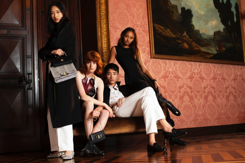 An image from the Salvatore Ferragamo Holiday 2018 advertising campaign
