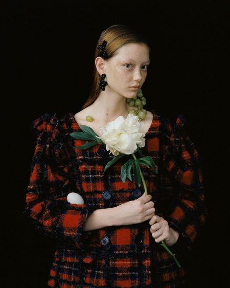 Sara Grace Wallerstedt Models Simone Rocha Looks for A Magazine