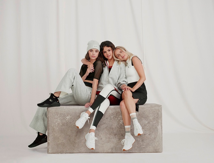 Selena Gomez and her friends pose for new PUMA campaign