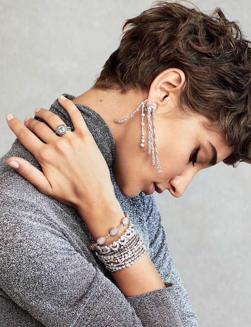 Sija Titko Models Metallic Looks for Hello! Fashion