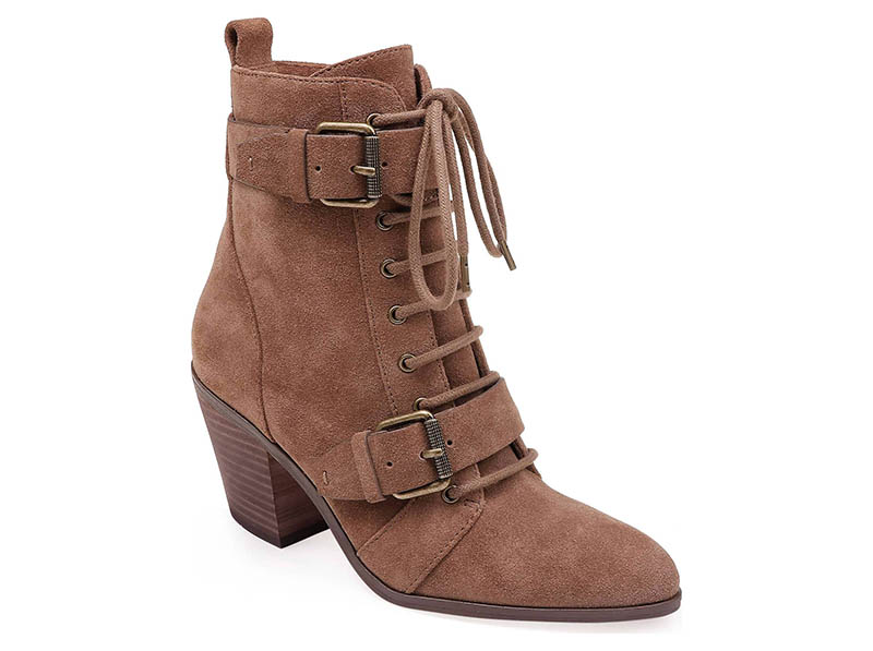 Splendid Carleton Lace Up Bootie in Light Brown Suede $198.95