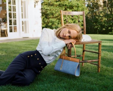 Jean Campbell stars in Tory Burch holiday 2018 campaign