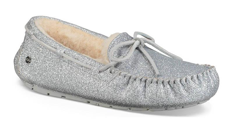 UGG Dakota Sparkle Slipper in Silver $109.95