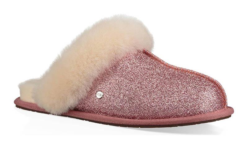 UGG Scufette II Sparkle Genuine Shearling Slipper in Pink $94.95