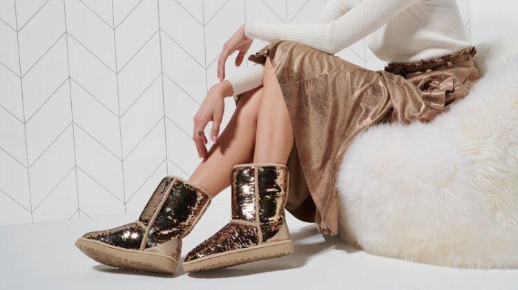 UGG glitter and metallic boots