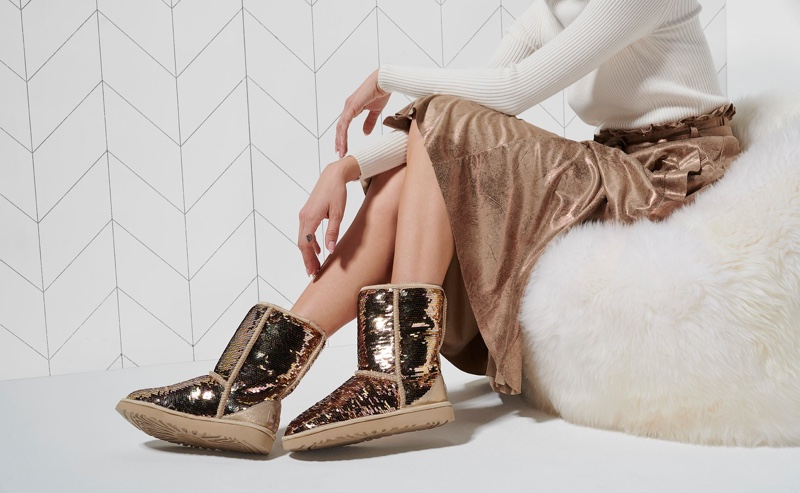 UGG glitter and metallic boots