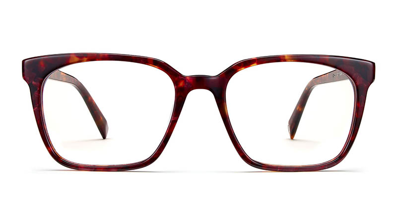 Warby Parker Hughes Glasses in Fig Tortoise $95