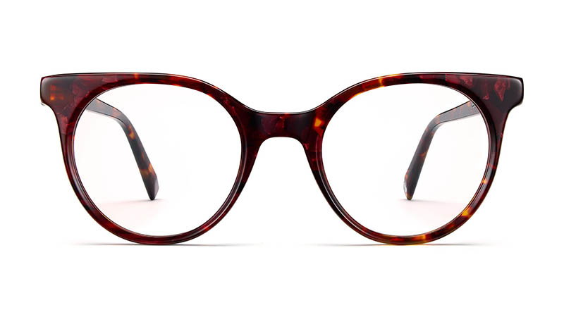 Warby Parker Jo Glasses in Fig Tortoise $95