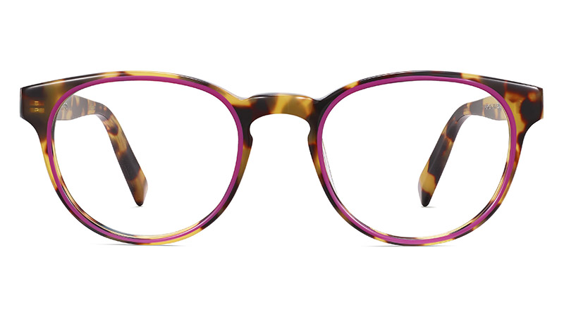 Warby Parker Percey Glasses in Cider Tortoise with Fuchsia $145