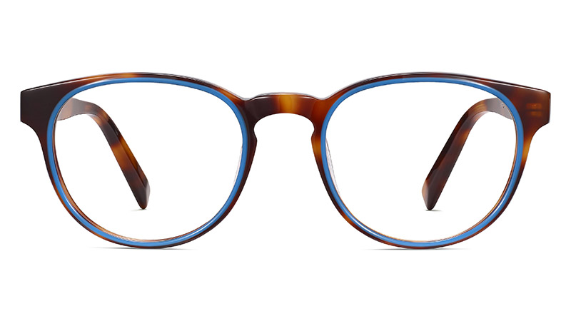 Warby Parker Percey Glasses in Oak Barrel and Cerulean $145