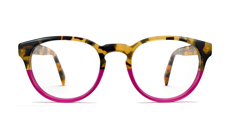 Warby Parker Percey Holiday Glasses in Fuchsia Tortoise Fade $95