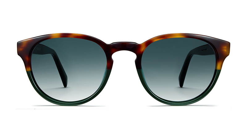 Warby Parker Percey Holiday Sunglasses in Evergreen Tortoise Fade with Green Gradient Lenses $95
