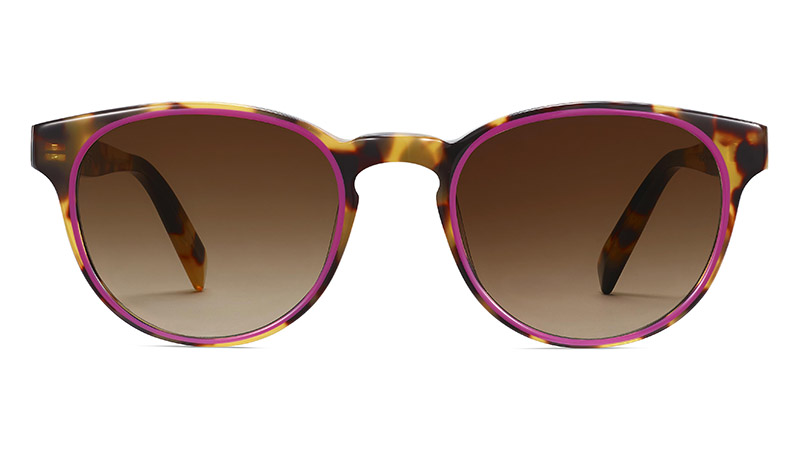 Warby Parker Percey Sunglasses in Cider Tortoise with Fuchsia $145