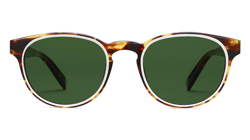 Warby Parker Percey Sunglasses in Root Beer with Ecru $145