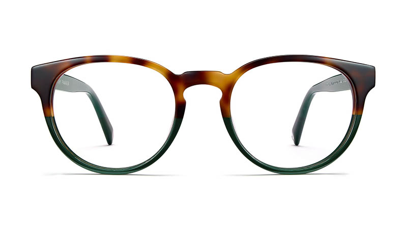 Warby Parker Percey Wide Holiday Glasses in Evergreen Tortoise Fade $95