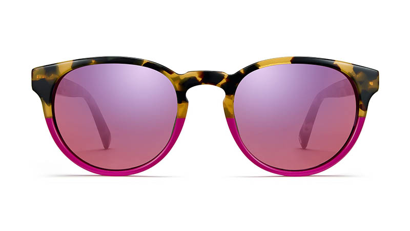 Warby Parker Percey Wide Holiday Sunglasses in Fuchsia Tortoise Fade $95