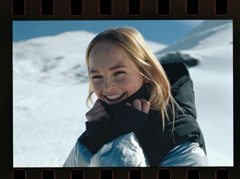 Jean Campbell is all smiles in Zara Join Life x TRF outerwear collection