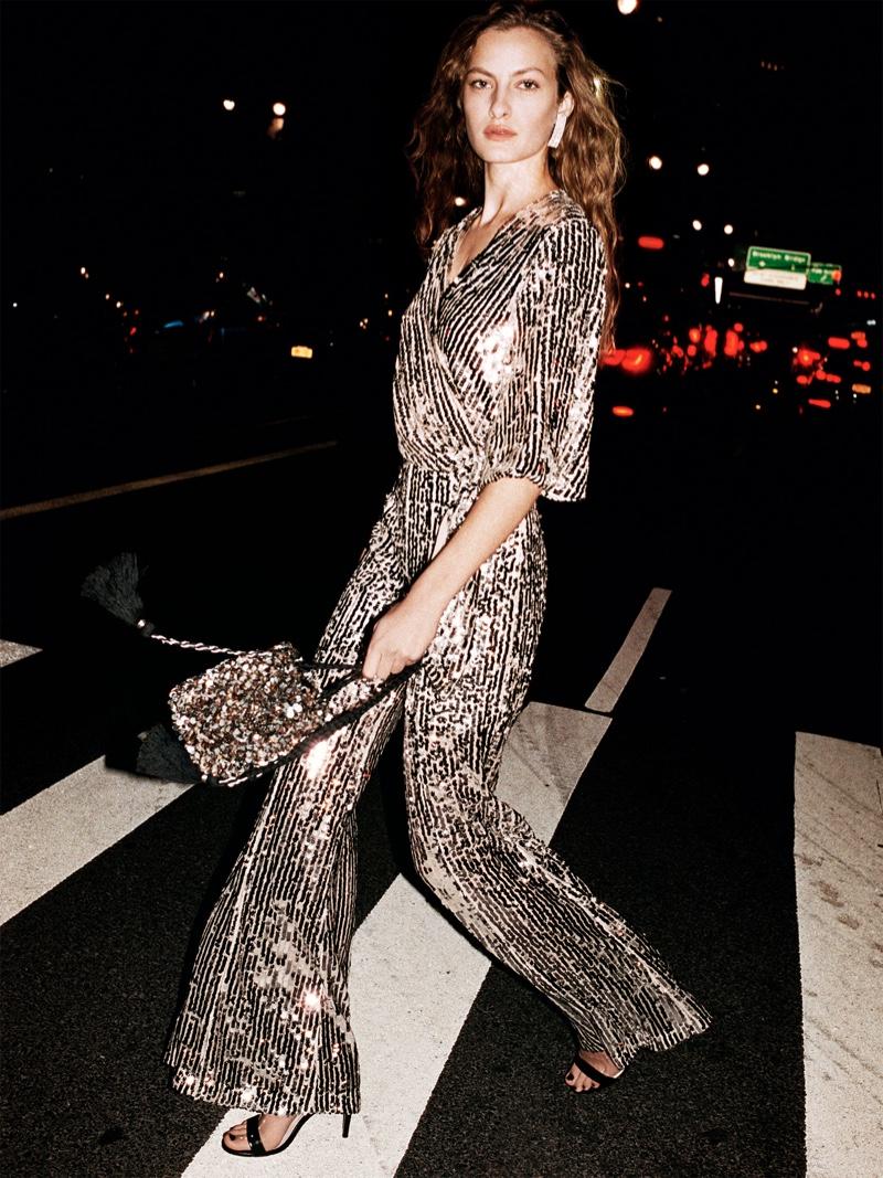 Zara Sequin Top and Flared Sequin Pants