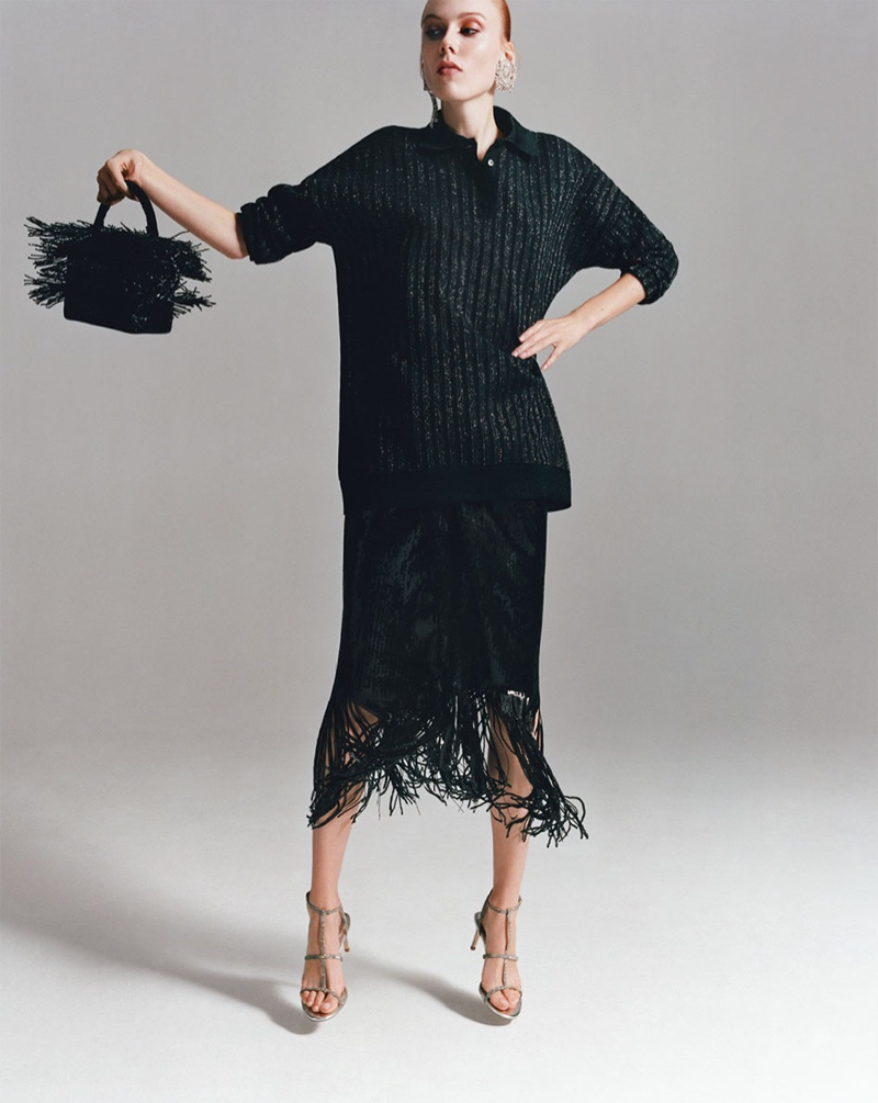Zara spotlights fringed pieces for its Dress Time lookbook
