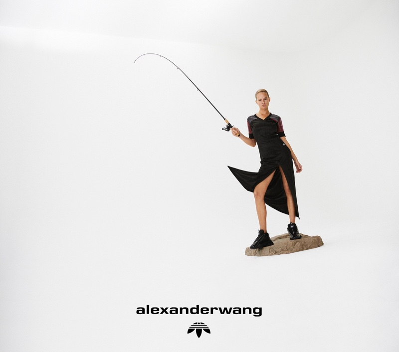 The German model appears in Alexander Wang's latest campaign for his adidas Originals collaboration