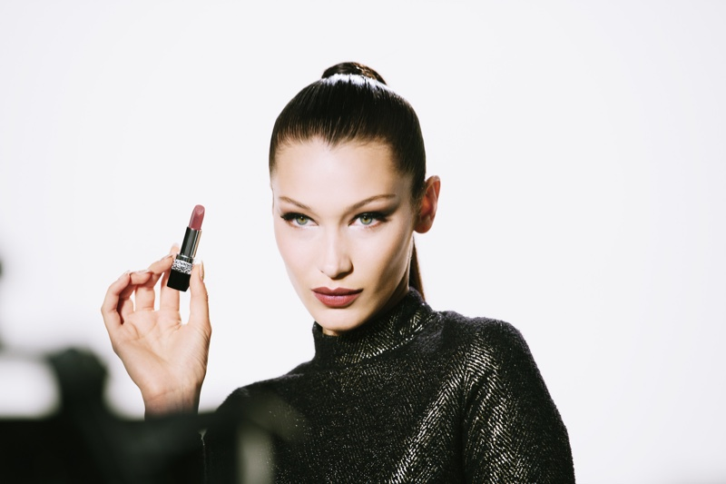 Bella Hadid Gets Glam for Dior Makeup Holiday Film