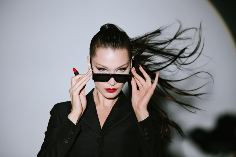 BEHIND THE SCENES: Bella Hadid on set of Dior Rouge Dior Wishes campaign