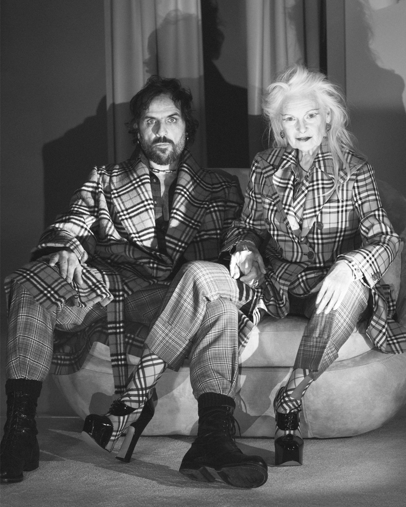 Andreas Kronthaler and Vivienne Westwood appears in Vivienne Westwood x Burberry campaign