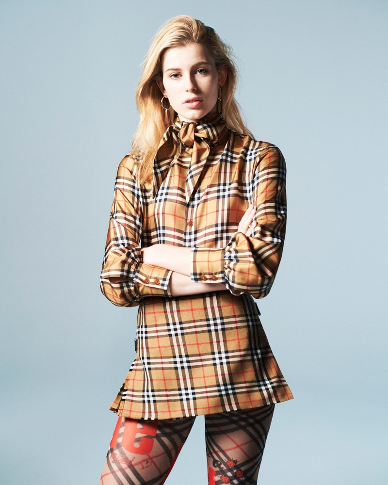 Claudia Lavender stars in Vivienne Westwood x Burberry campaign