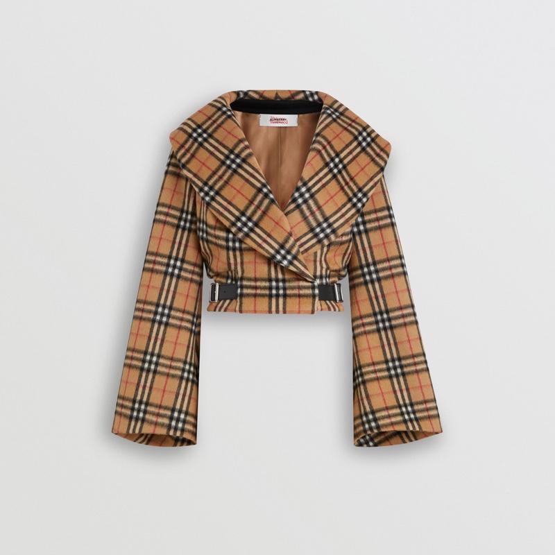 Burberry x Vivienne Westwood Vintage Check Alpaca Wool Hugger Jacket $1,750