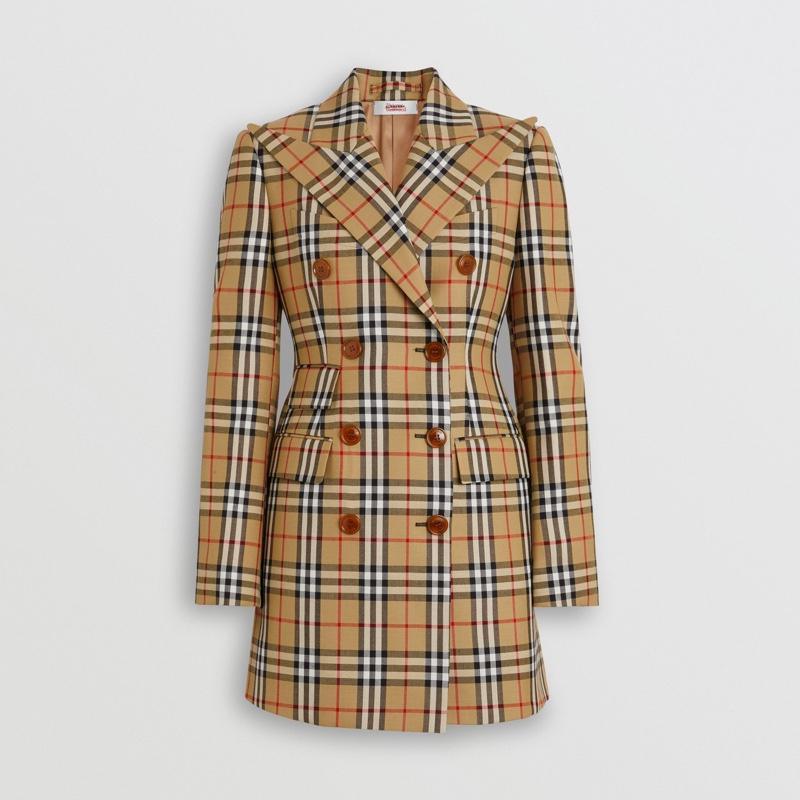 Burberry Vivienne Westwood Vintage Check Wool Double-Breasted Jacket $1,590