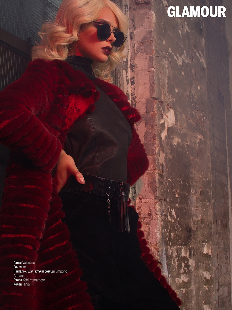 Danielle Knudson Models Glam Rock Style for Glamour Bulgaria