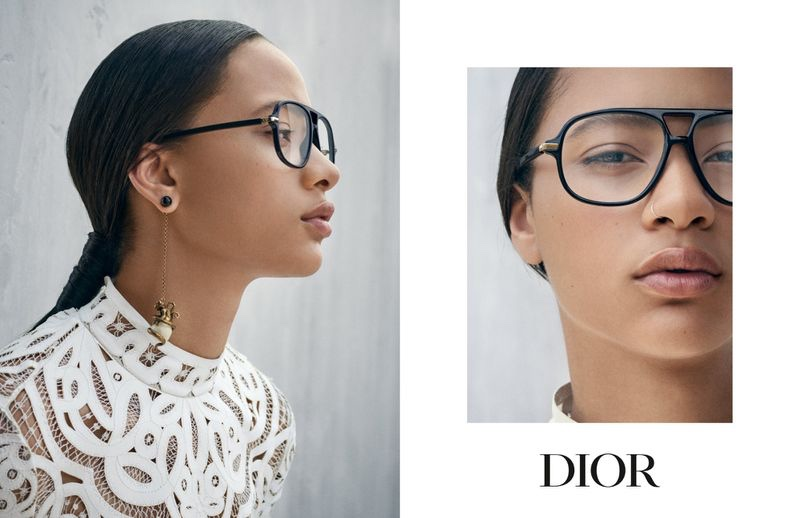 An image from the Dior Eyewear cruise 2019 advertising campaign