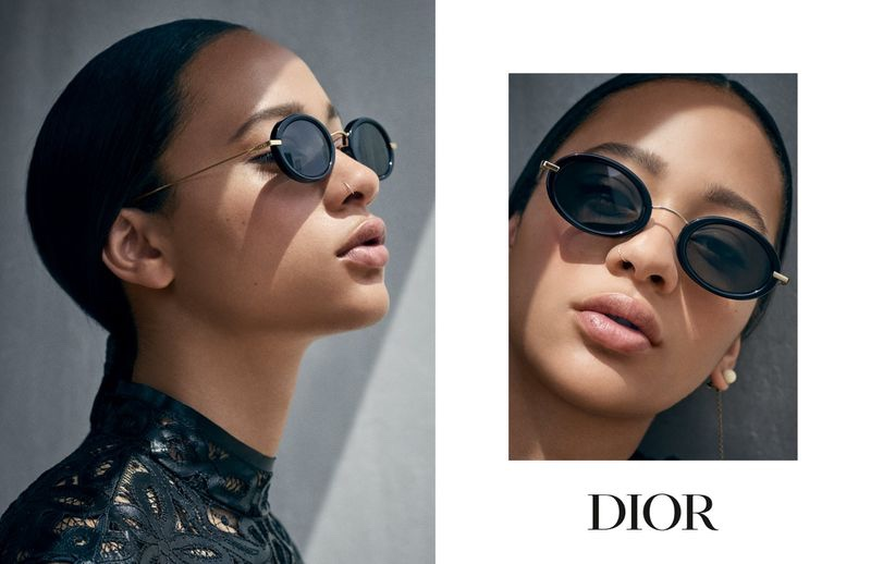 Model Selena Forrest appears in Dior Eyewear cruise 2019 campaign