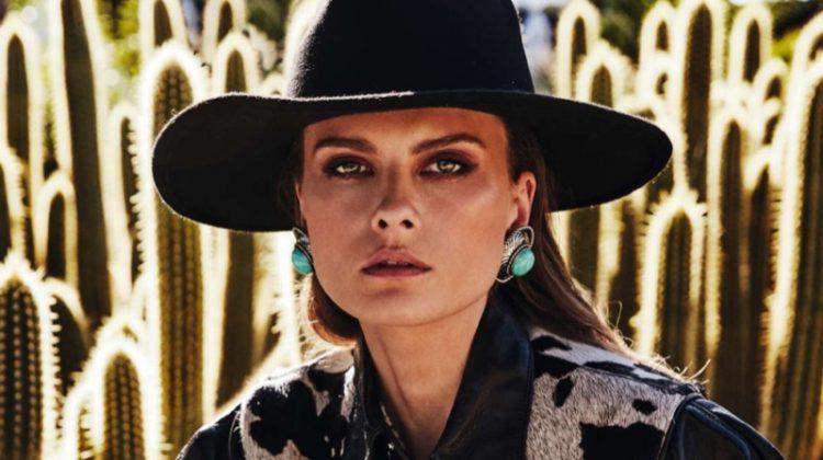 Elena Melnik Takes On the Western Trend for ELLE Spain