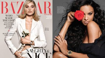 Elsa Hosk & Lais Ribeiro Team Up for Harper's Bazaar Singapore