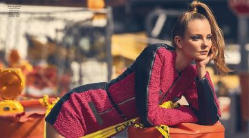 Eniko Mihalik Gets Glam in the City for Io Donna
