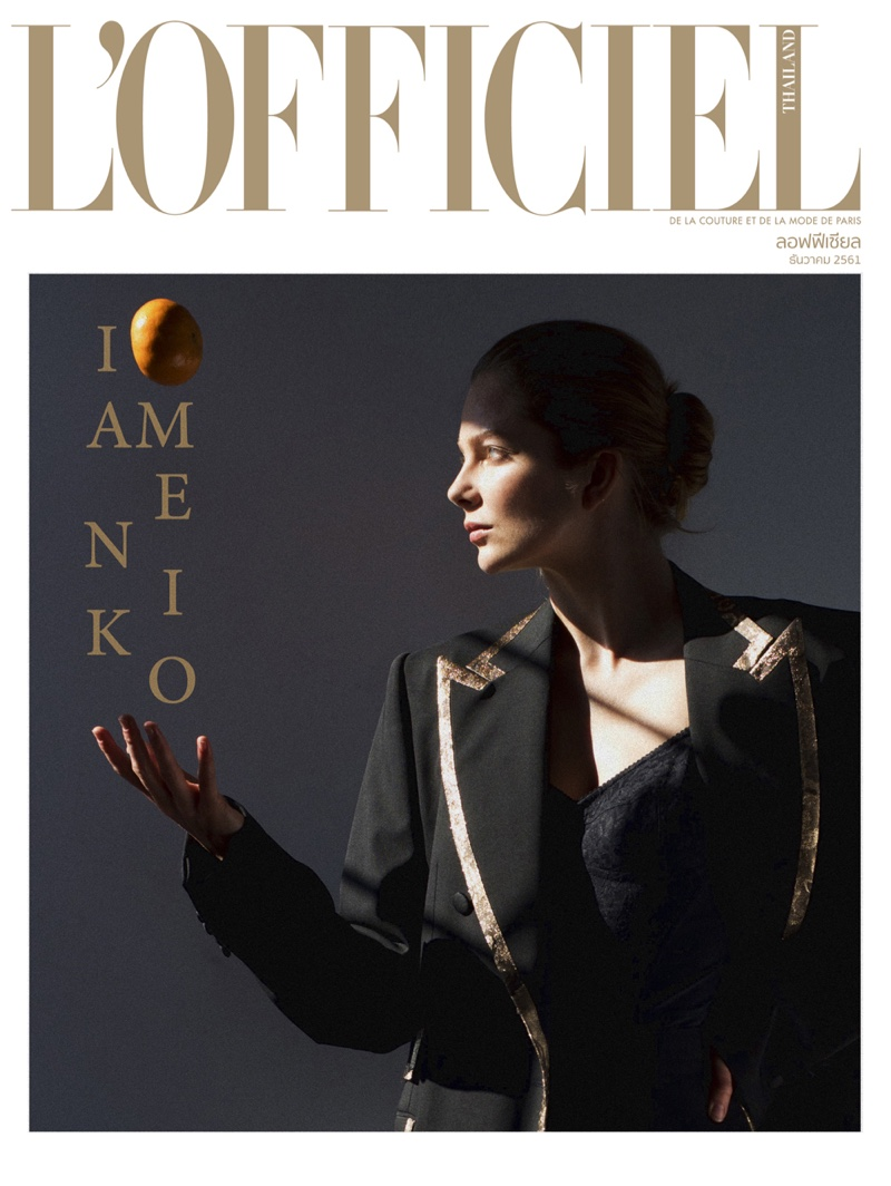 Eniko Mihalik Wears Pared Down Fashion in L'Officiel Thailand