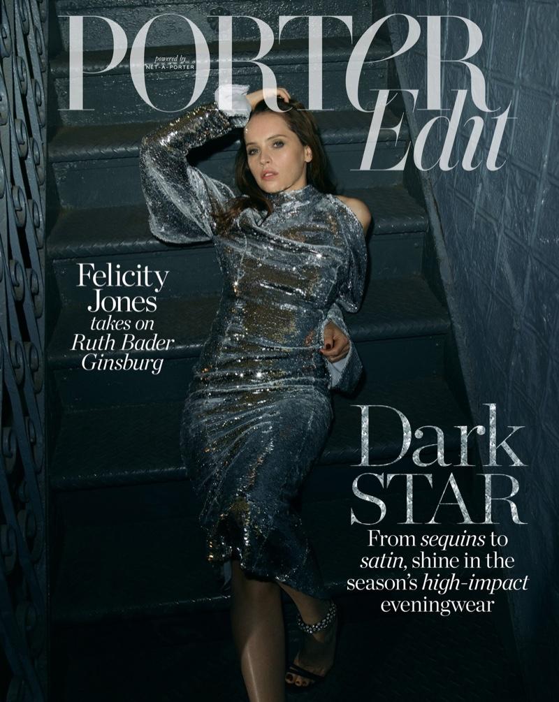 Felicity Jones on PORTER Edit December 7th, 2018 Cover