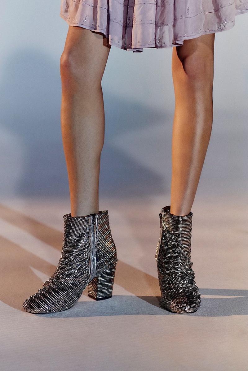 Farylrobin Vegan Bling Heel Boot $248