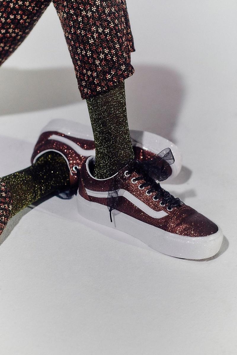 Vans Old Skool Glitter Platform sneaker $75