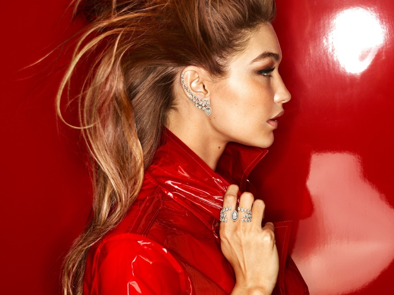 Supermodel Gigi Hadid wears bold gems in Messika jewelry campaign