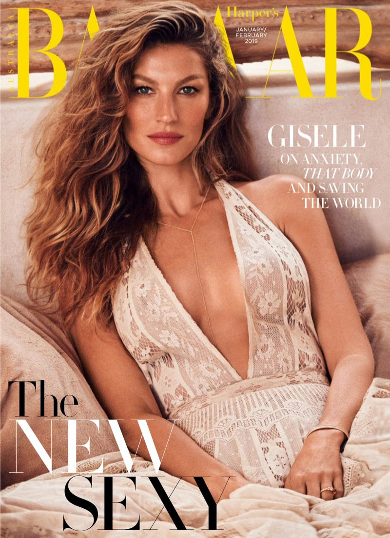 Gisele Bundchen on Harper's Bazaar Australia January-February 2019 Cover