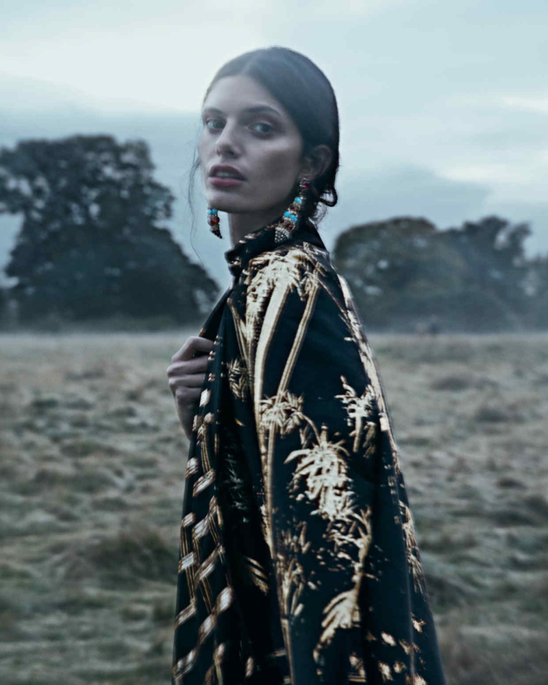 Giulia Manini Models Romantic Dresses for How To Spend It