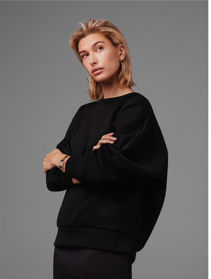 Hailey Baldwin Wears Pared Down Looks for L'Officiel Paris