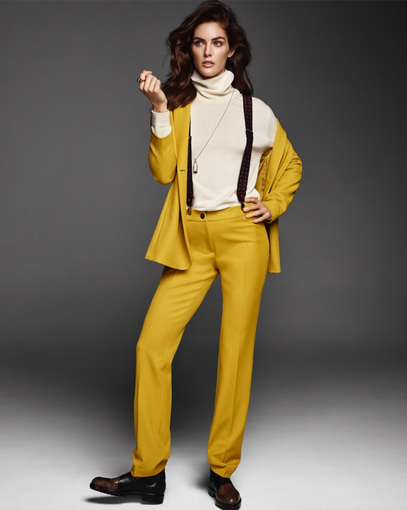 Hilary Rhoda Models the Chicest Pants for Vanity Fair Italy